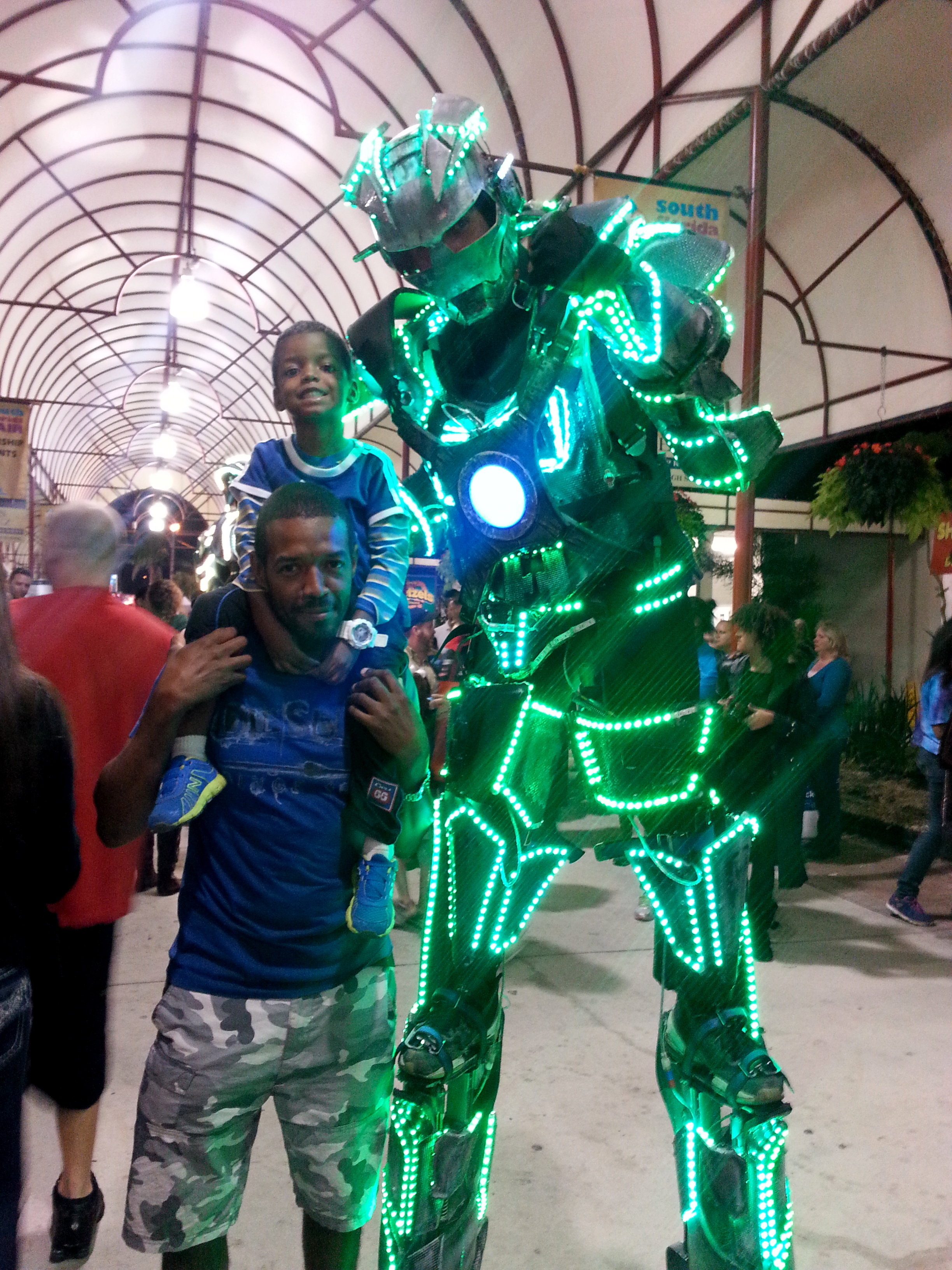 south florida fair LED robots daddy and gabe