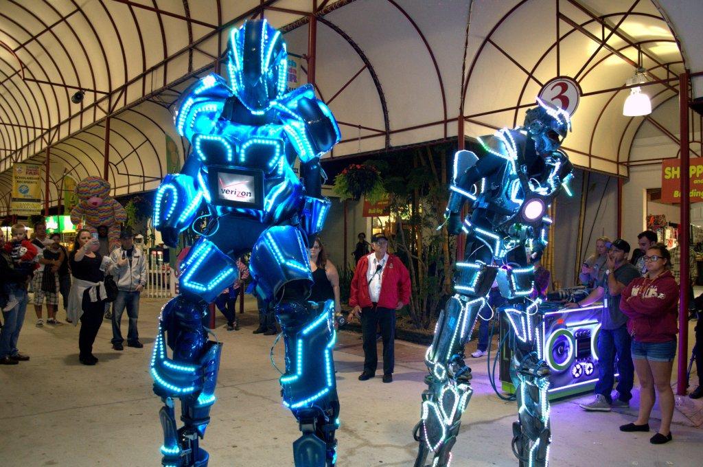 south florida fair LED robots