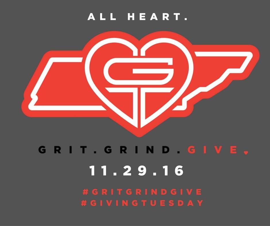 #GritGrindGive