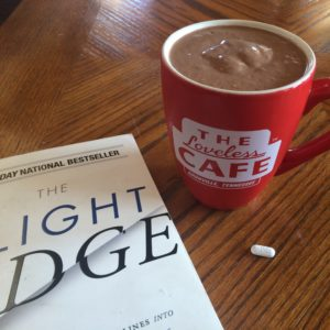 My favorite breakfast smoothie - with a side of a great book and EHT!