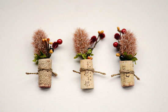 Wine Cork Wedding Boutonnieres