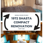 1972 Shasta Compact Renovation Part One Middle River Studio