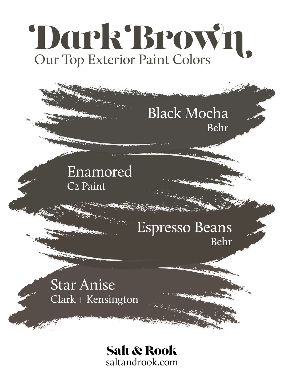 Our Top Dark Brown Exterior Paint Colors For Our Dutch Colonial Salt Rook