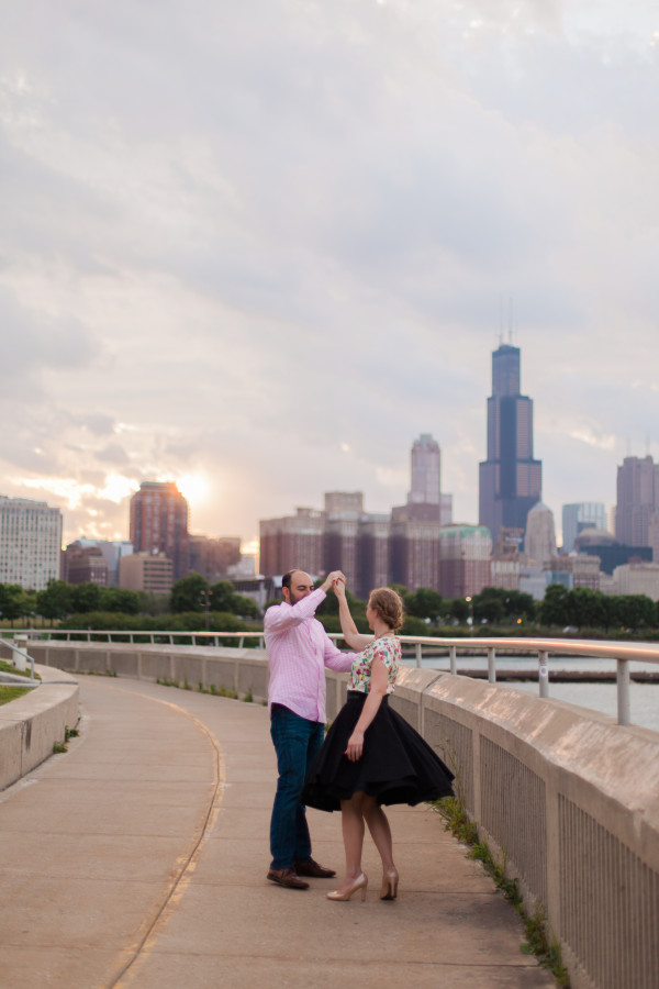 Chicago Skyline Goodbye Story - Annika & Ray | Alicia Sturdy, #hitherandhold | www.aliciasturdy.com