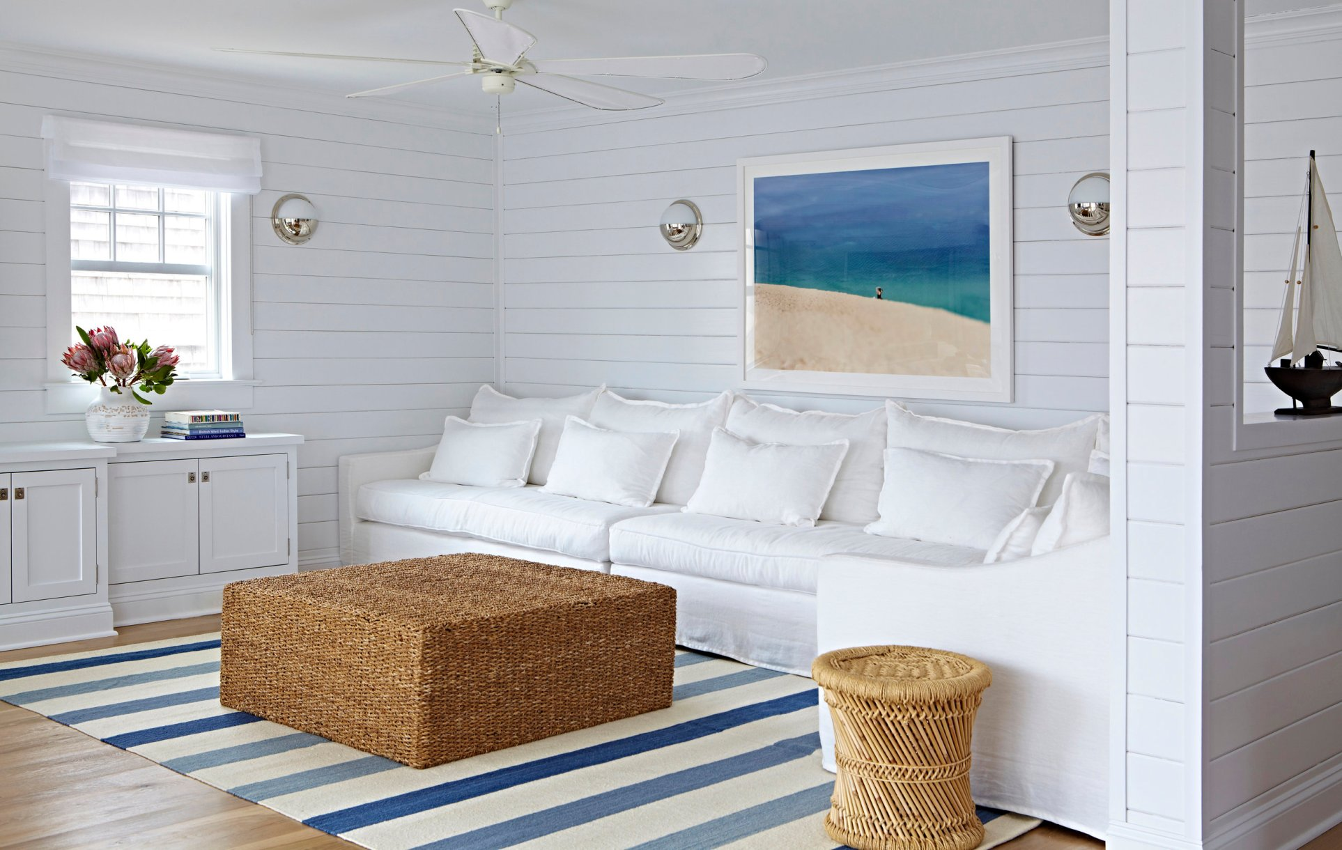 Blue & White Beach Bungalow in Bay Head — Stace King