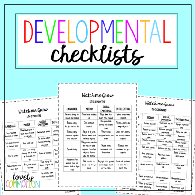 Early Childhood Developmental Checklists for parents, preschool teachers and caregivers.