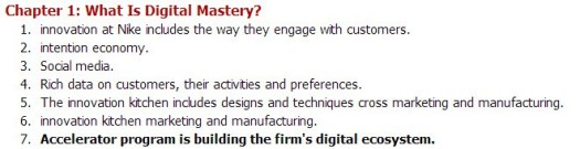 Sample from my note taking:Leading Digital by George Westerman