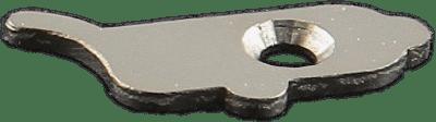 Automatic retaining plaque