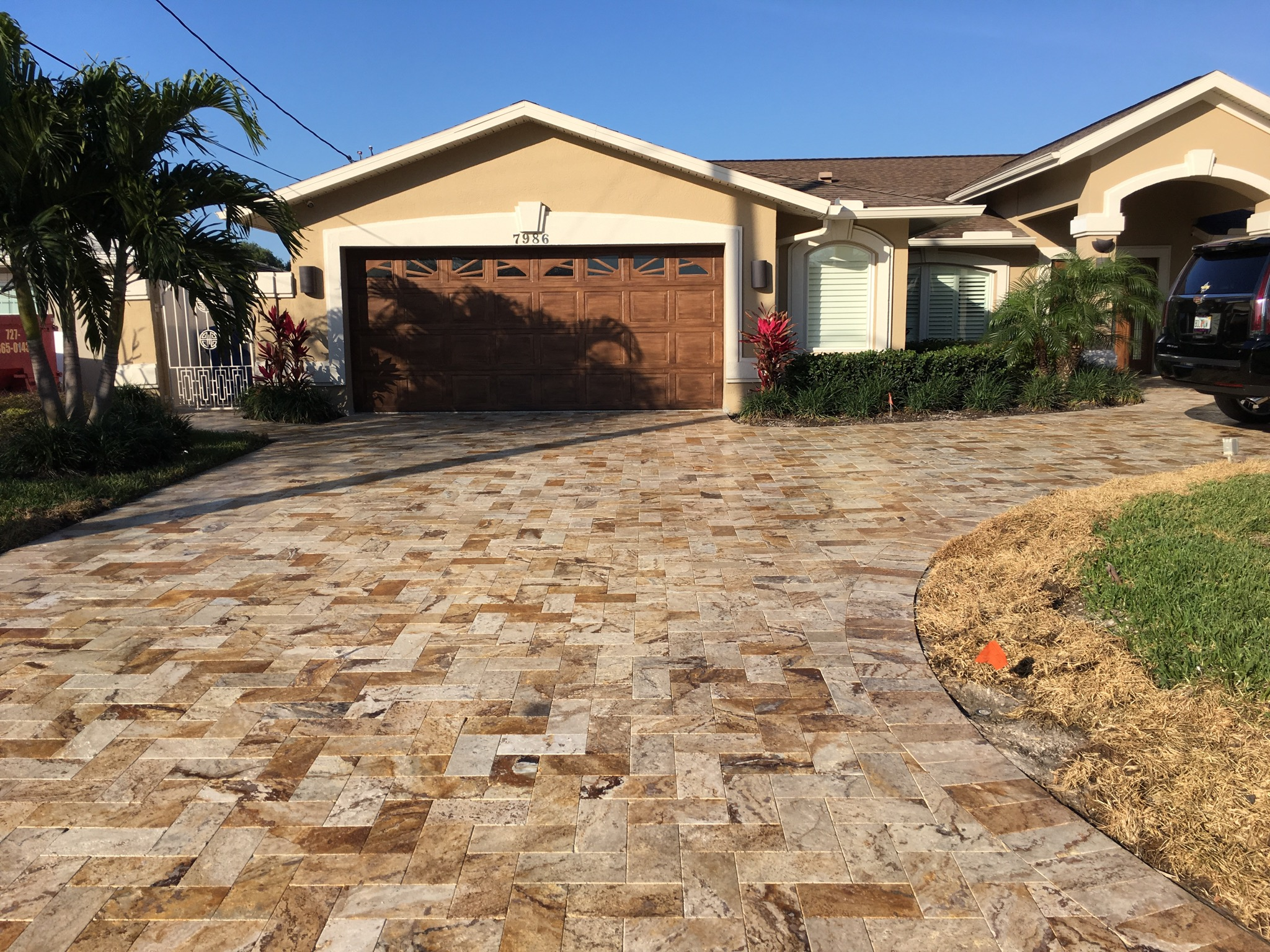 ... Patg Brick Pavers Curb Nyc Aitensomexico Org Painting Driveway Patg  Brick Pavers Curb Nyc Front Porch Makeover With Painted Paver Stones So  Much Better ...