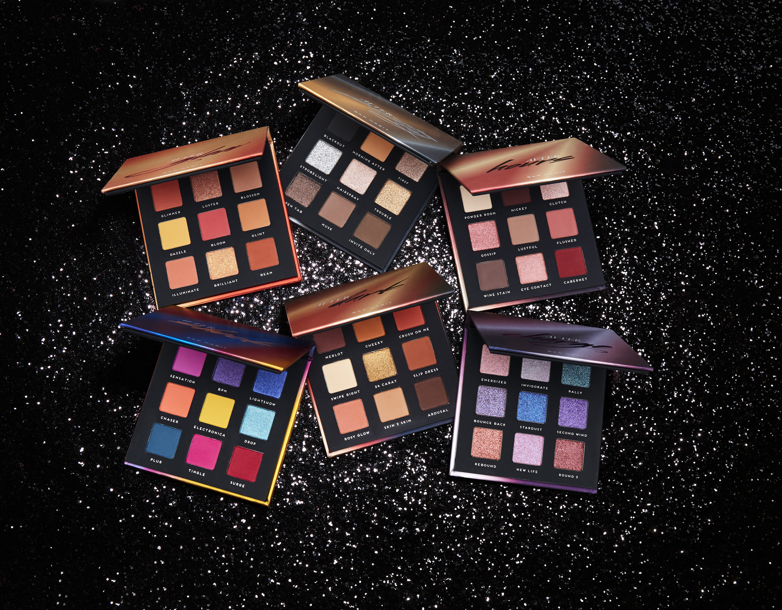 After Collection     Bad Habit AFTER COLLECTION    12 each    48 for all sixEach palette in the After  Collection features