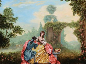 Why I Love Rococo     Jennifer Chapman Fine Art The Proposal   Original Oil Painting