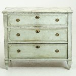 12524 7d Fine Gustavian Style Chest With Faux White Painted Marble Top 19th C Selected Design Antiques