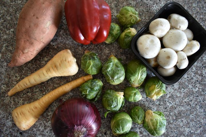 ingredients for perfect roasted vegetables
