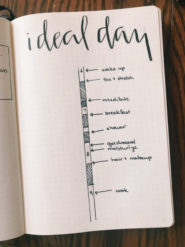 How I Use My Bullet Journal to Manifest my Perfect Morning — Andrea O.