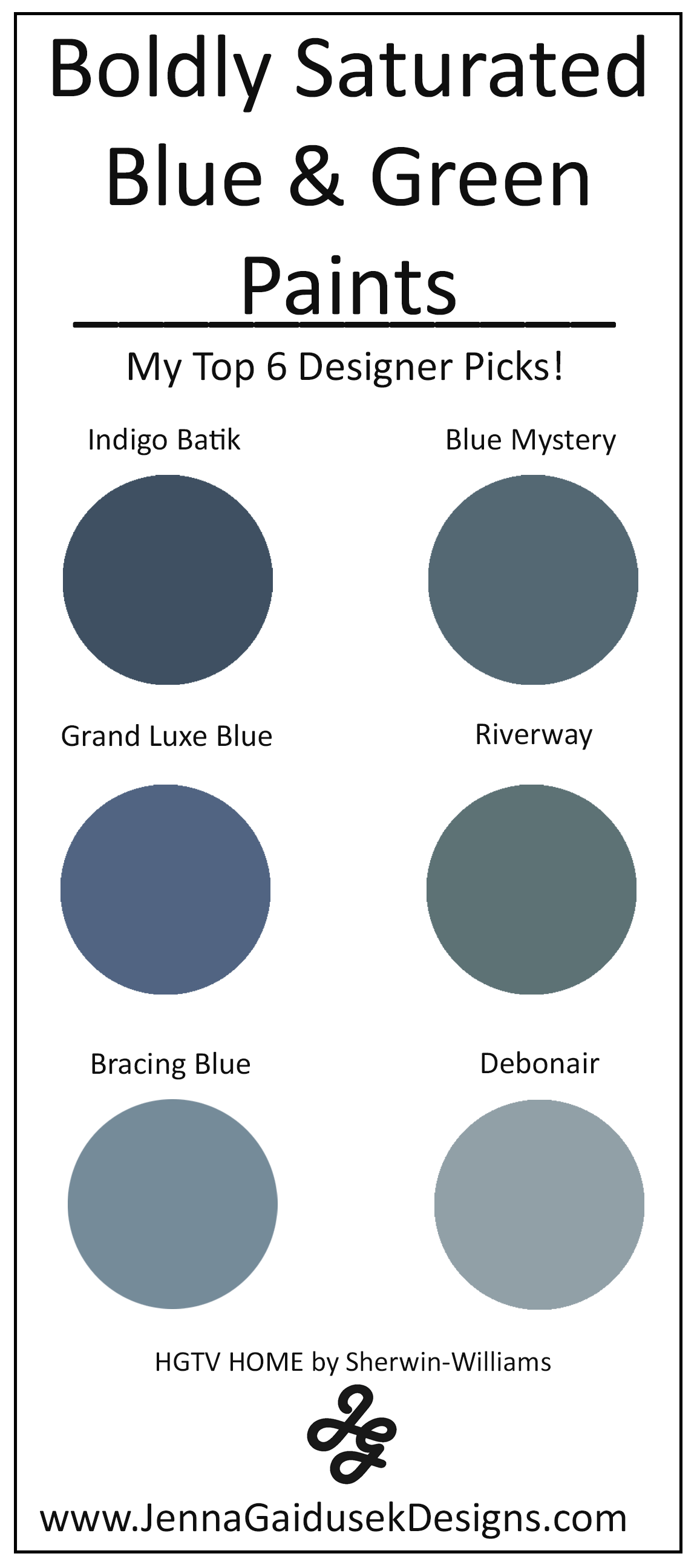 My Top 6 Bold Blue And Green Paint Colors Best Accent Wall Paints Jenna Gaidusek Designs