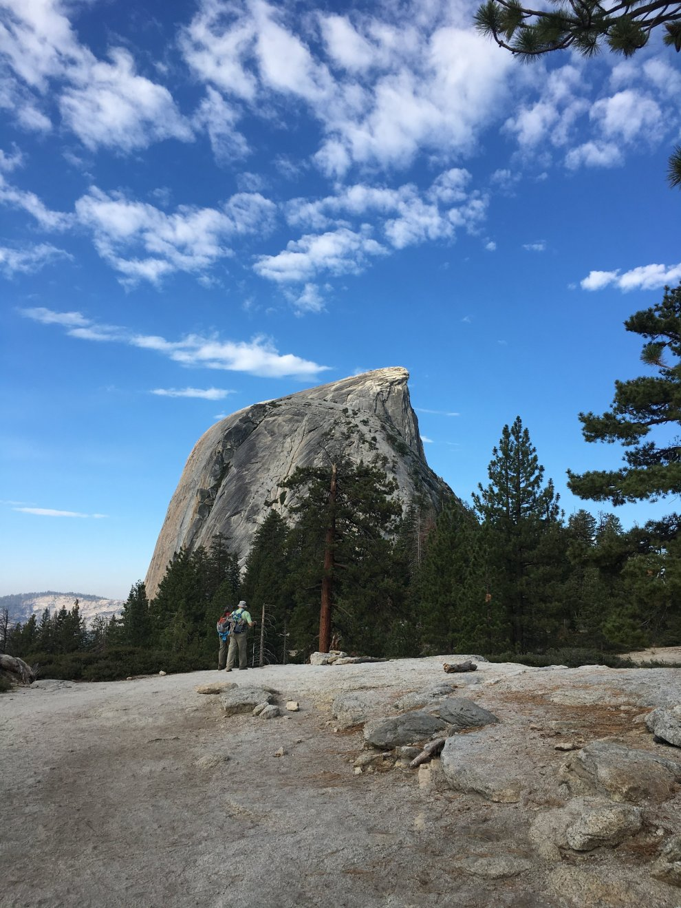 Sub Dome hiding part of Half Dome. We were at the tip of the second peak!