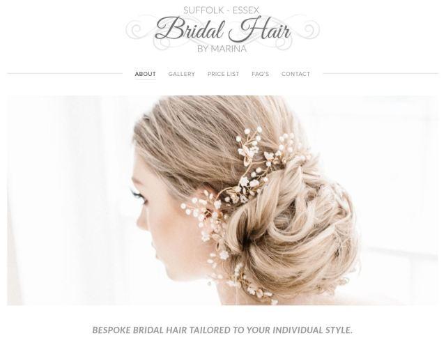 bridal services — essex & suffolk bridal hair by marina