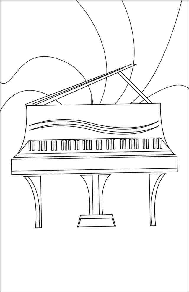 Color of Music Coloring Page — Leila Viss, 29PK