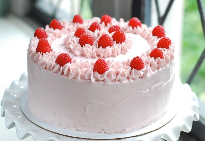 Lemon Curd Filled Vanilla Cake With Raspberry Buttercream Vegan Junkie