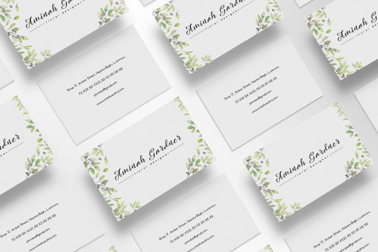 Free Floral Designer Business Card Template