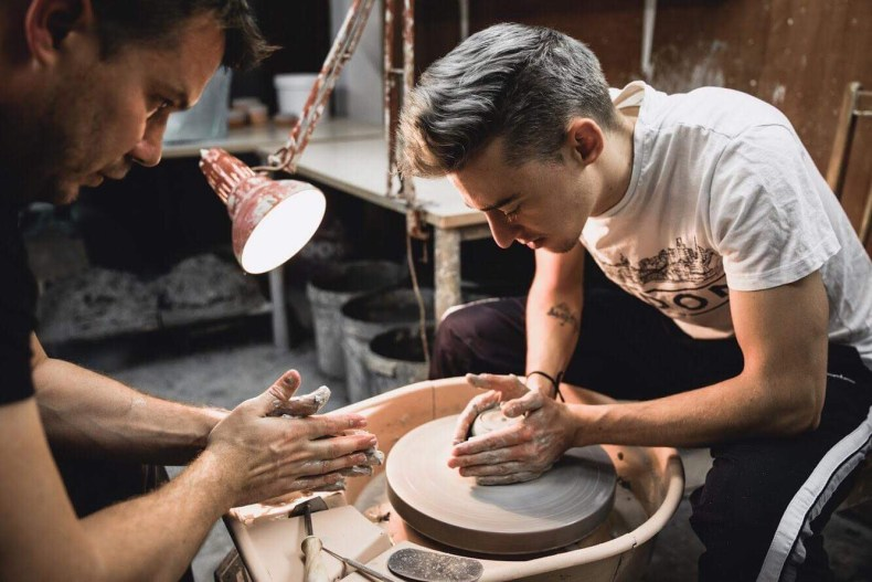 Creating products for One Line Ceramics.  Photo by Uroš S. Abram,  @slikaj.se
