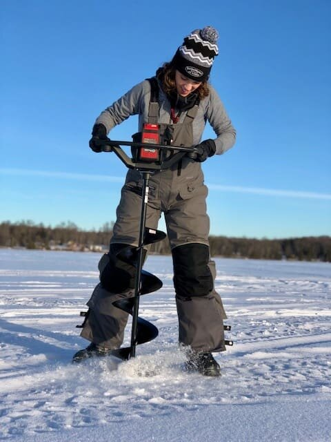 Flotation bibs and jackets - the gift of warmth and safety. A tough combination to beat for the female ice angler!