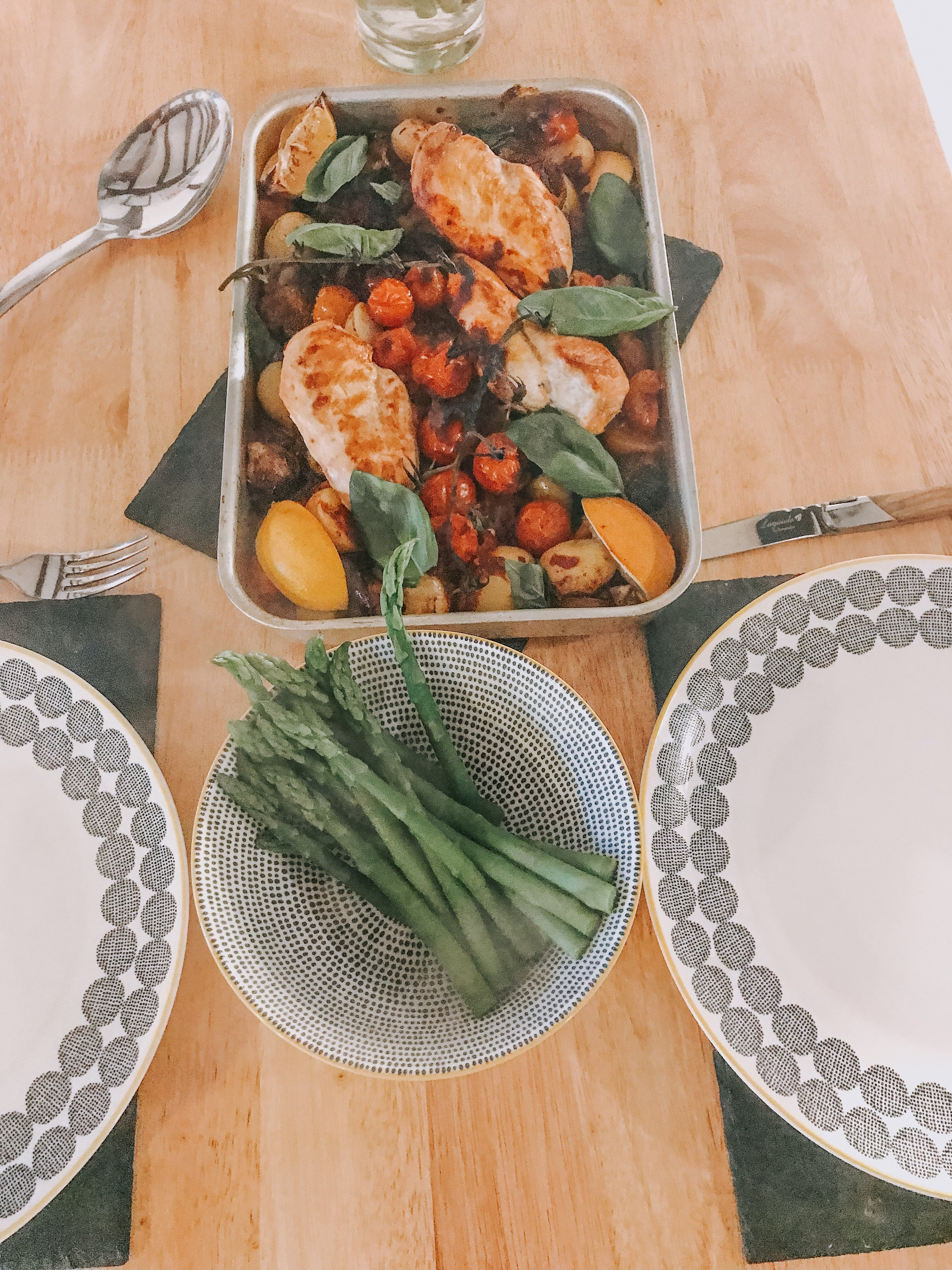 Essex food blog. Chicken and asparagus.