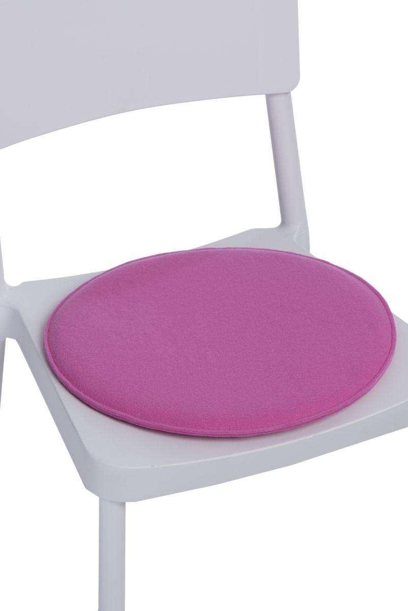 pink round chair cushion