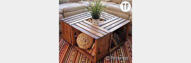 Une table basse en palettes