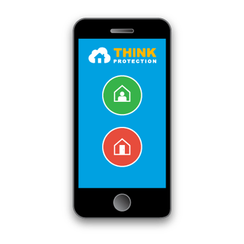 Phone with Think Protection app