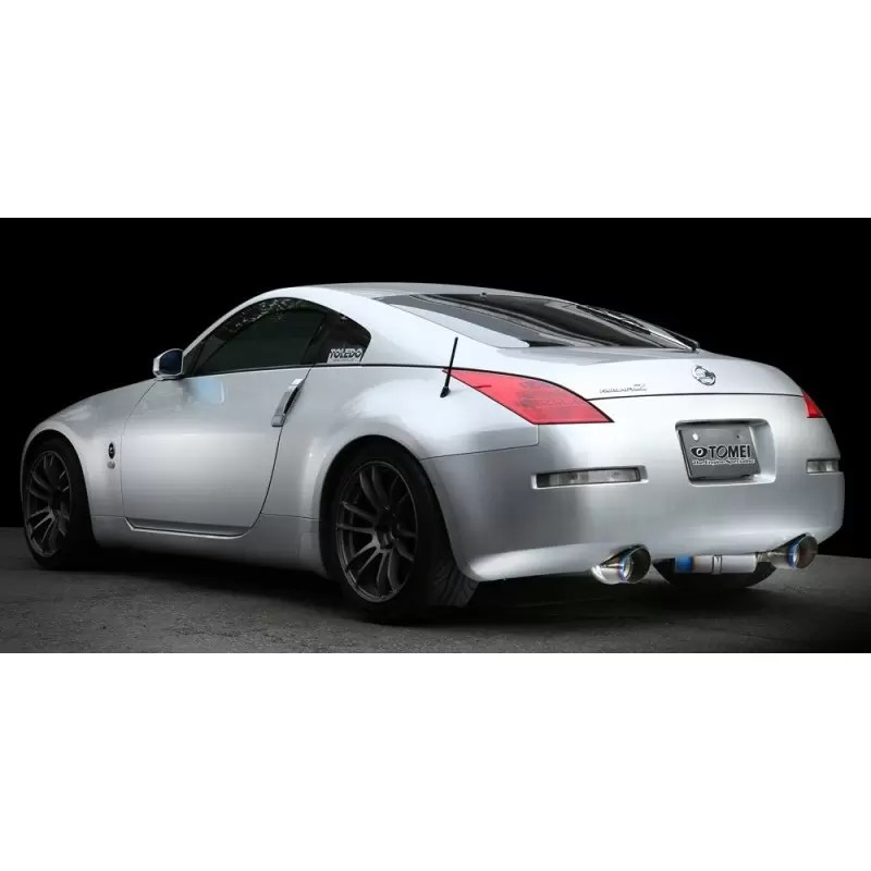 350z tomei ti racing titanium y pipe back exhaust system dual muffler