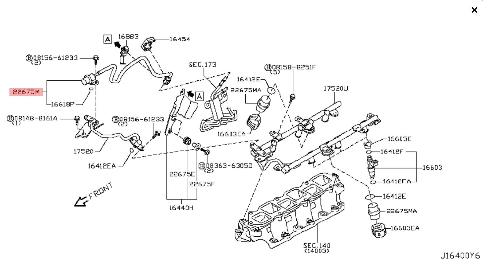 370z Z34 Nissan Oem Fuel Dampener Assembly Rh