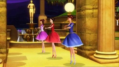 12 Barbie 5 Princesses Clip Dancing