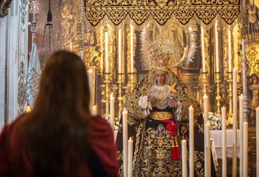 La Virgen de la Cabeza expuesta el Miércoles Santo de 2021