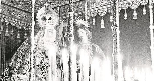 La Virgen de la Concepción en la Catedral en 1950
