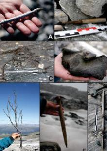 Photographs: Glacier Archeology Program and J. Wildhagen)