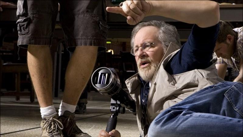Steven Spielberg, durante el rodaje de 'Indiana Jones y el reino de la calavera de cristal'