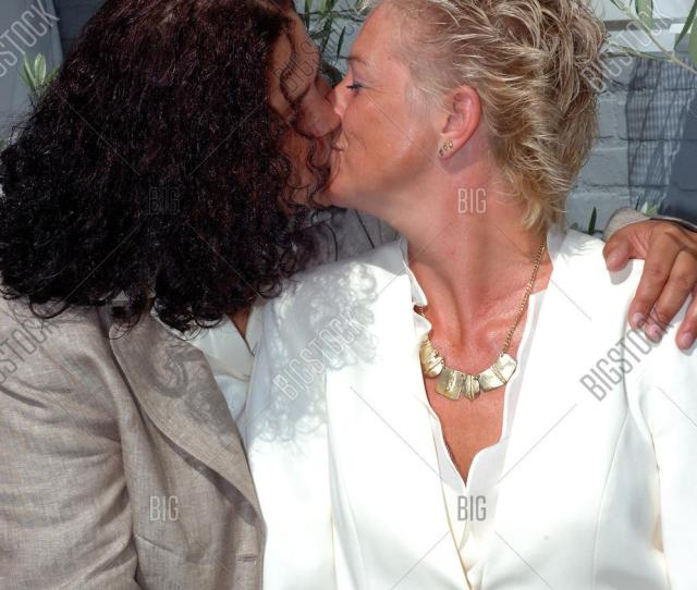 Kissing Lesbian Couple