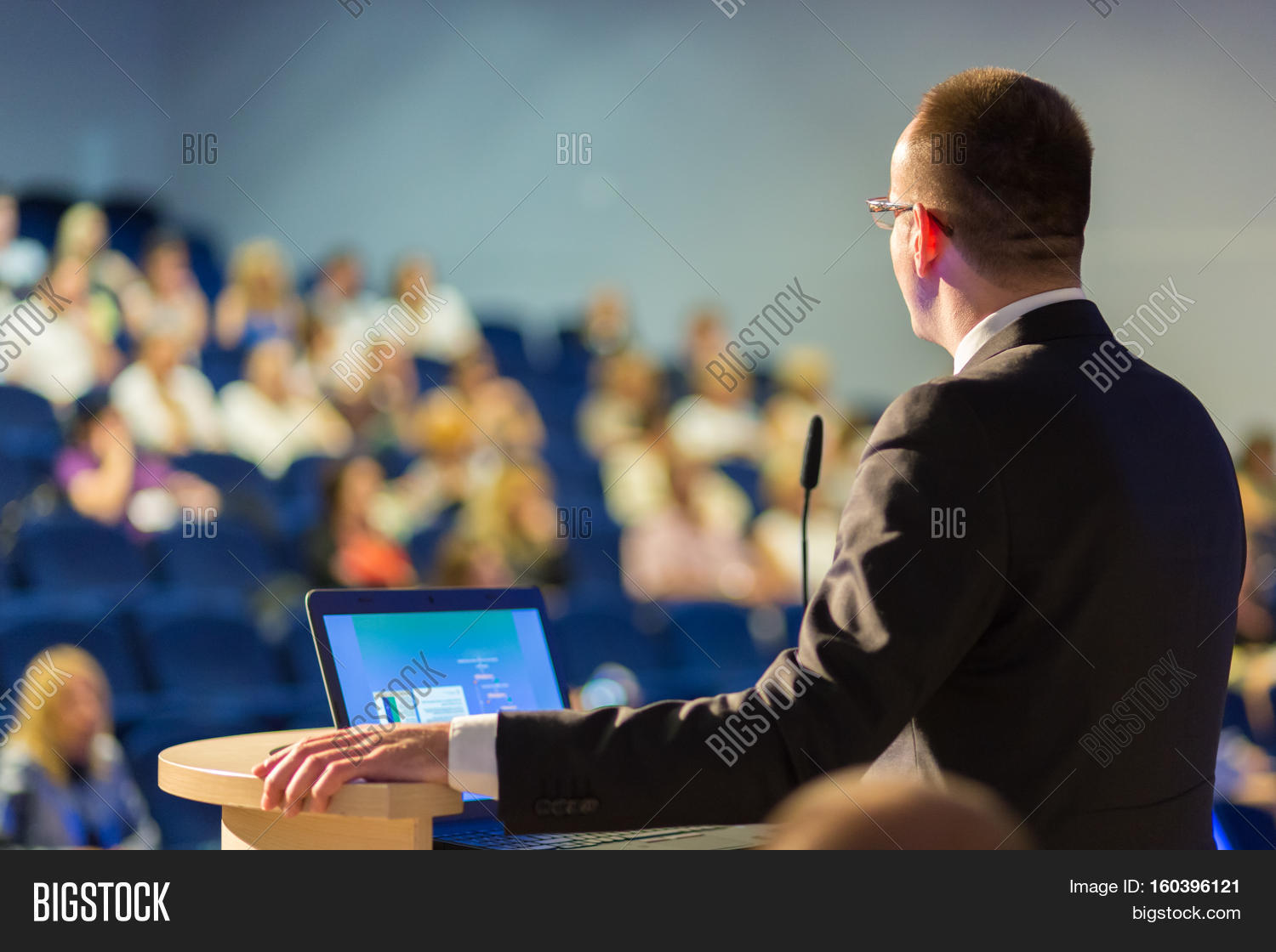 Speaker Giving Talk On Image & Photo (Free Trial) | Bigstock