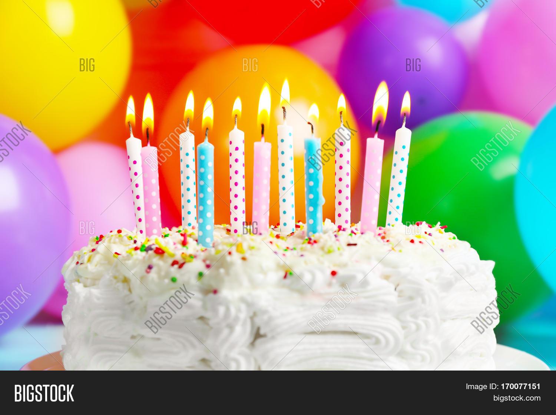 Birthday Cake Candles Image Photo Free Trial Bigstock