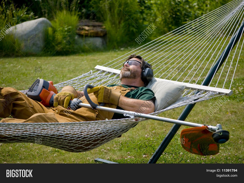 Man Sleeping Hammock Image Amp Photo Free Trial