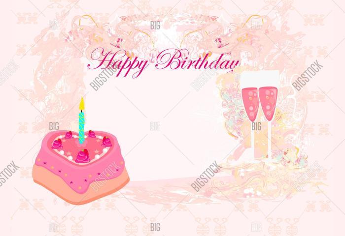 Happy Birthday Card Vector Photo Free Trial Bigstock