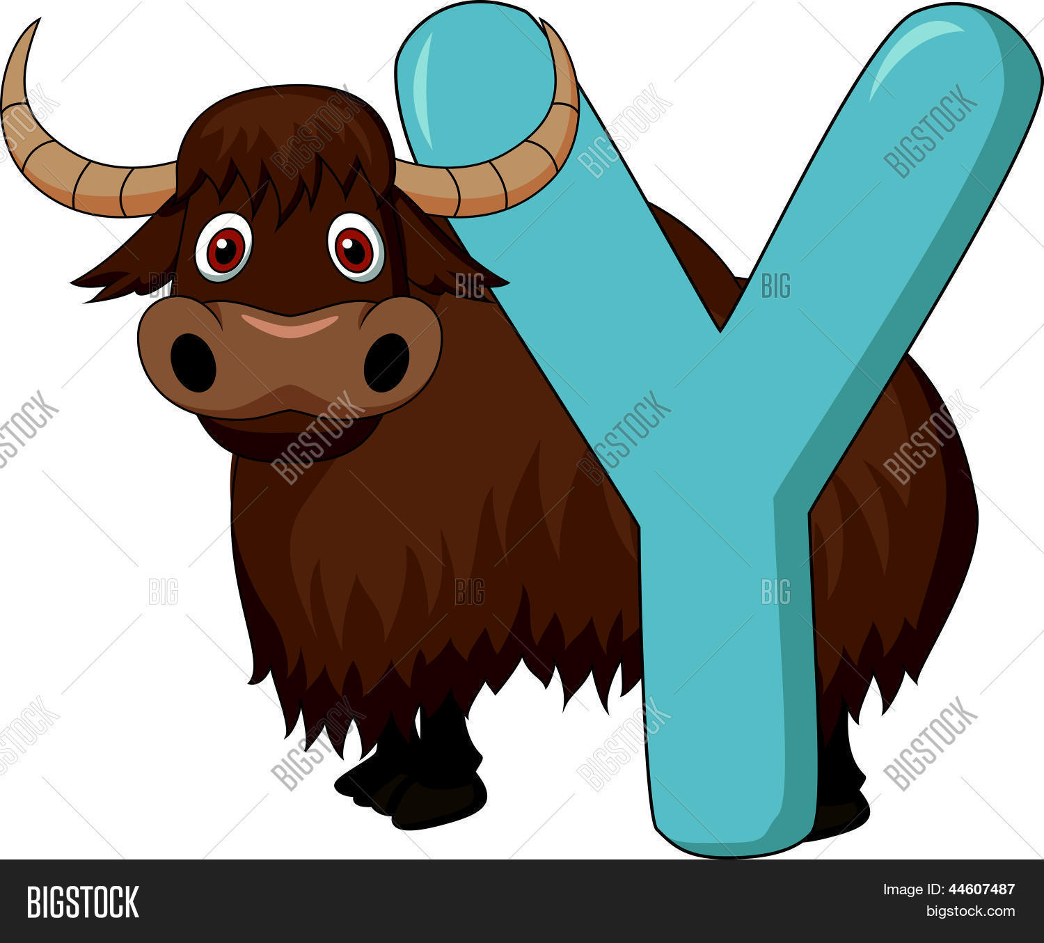 Alphabet Y Yak Vector Amp Photo Free Trial