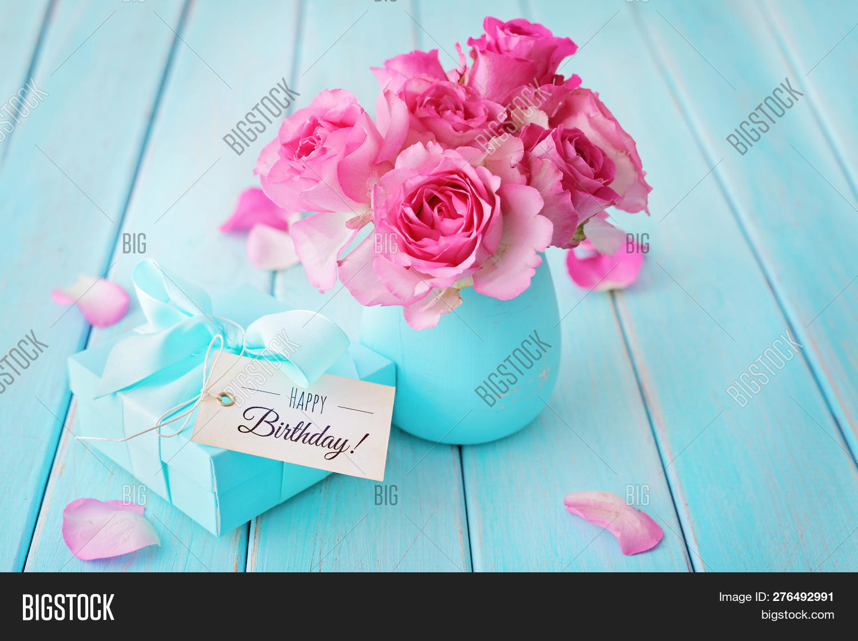 Pink Rose Flowers Vase Image Photo Free Trial Bigstock