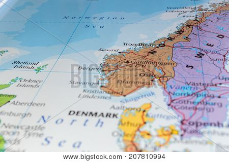 Northern Europe Atlas  Concept Image   Photo   Bigstock northern europe in atlas  the concept of travel