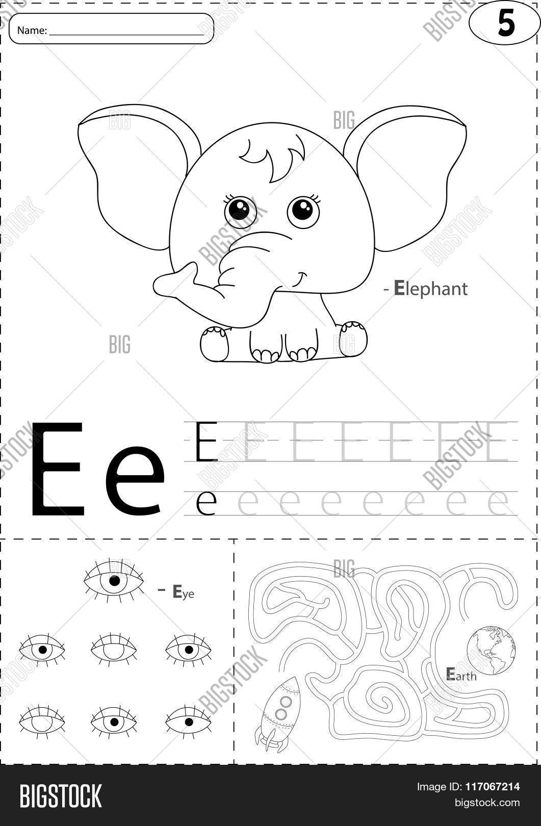 Cartoon Elephant Eye Vector Amp Photo Free Trial