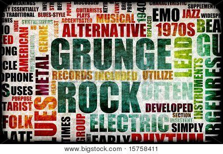 grunge rock music poster art as