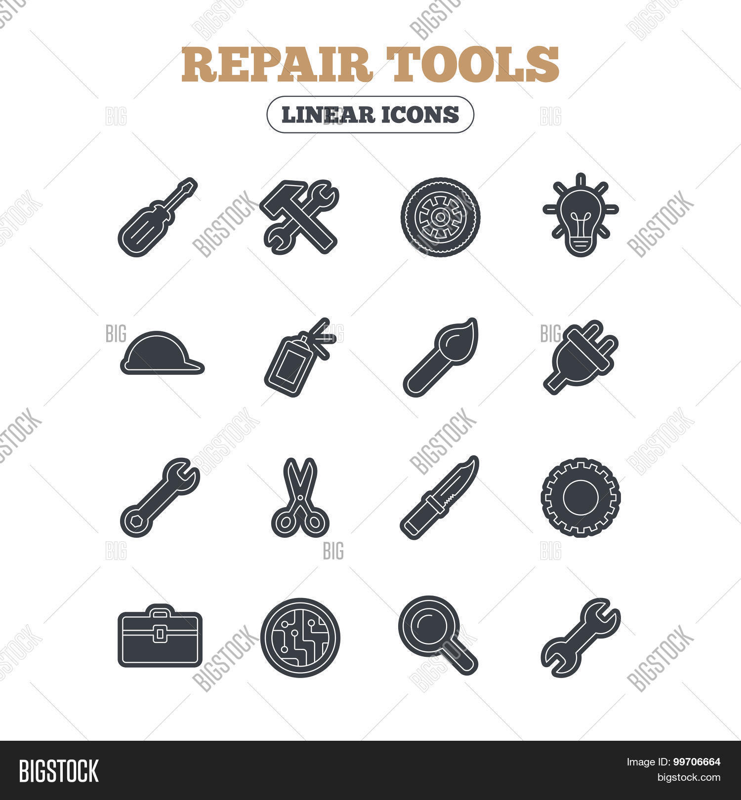 Repair Tools Icons Vector Amp Photo Free Trial