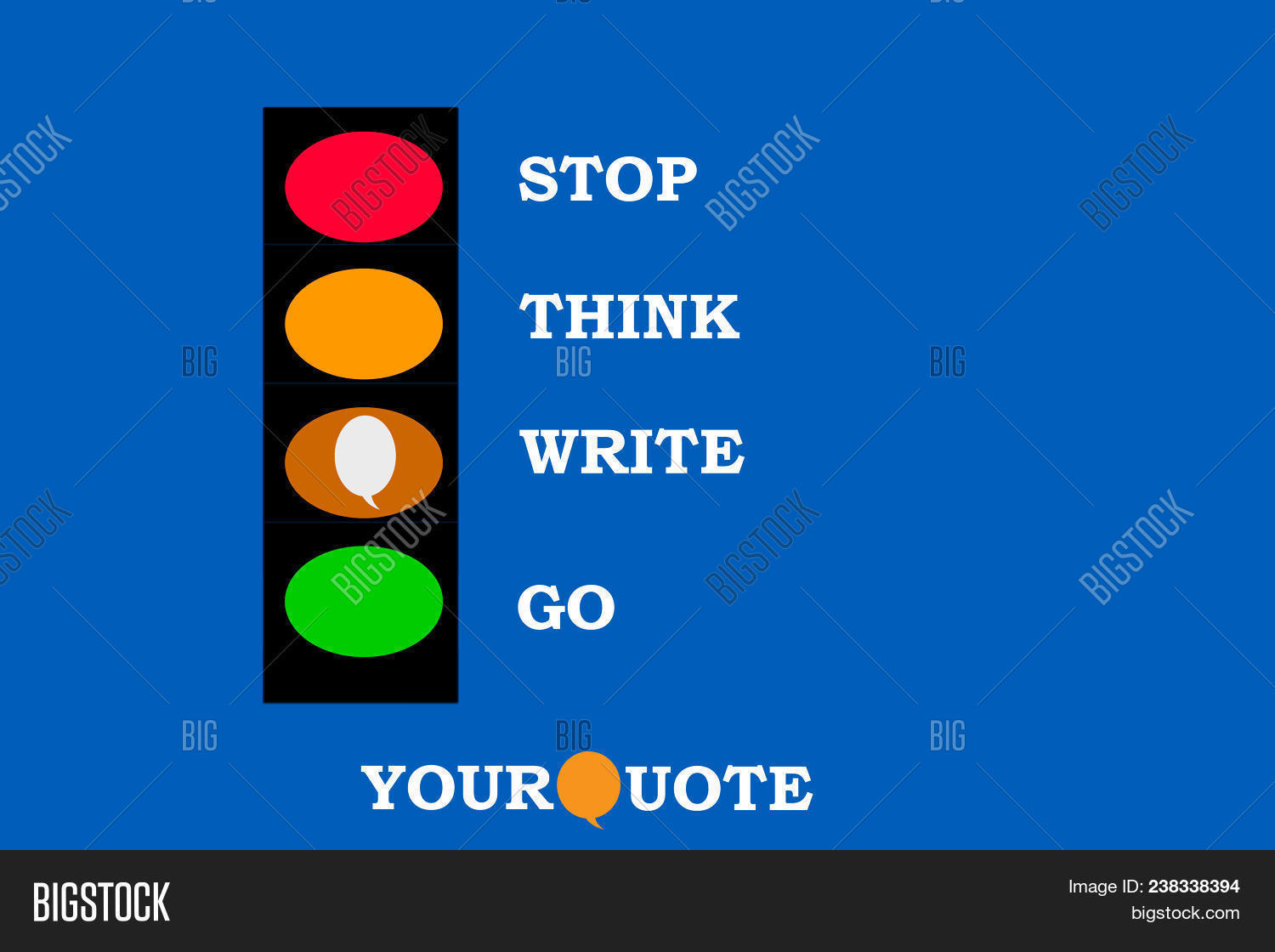 Stop Think Write Go Image Amp Photo Free Trial