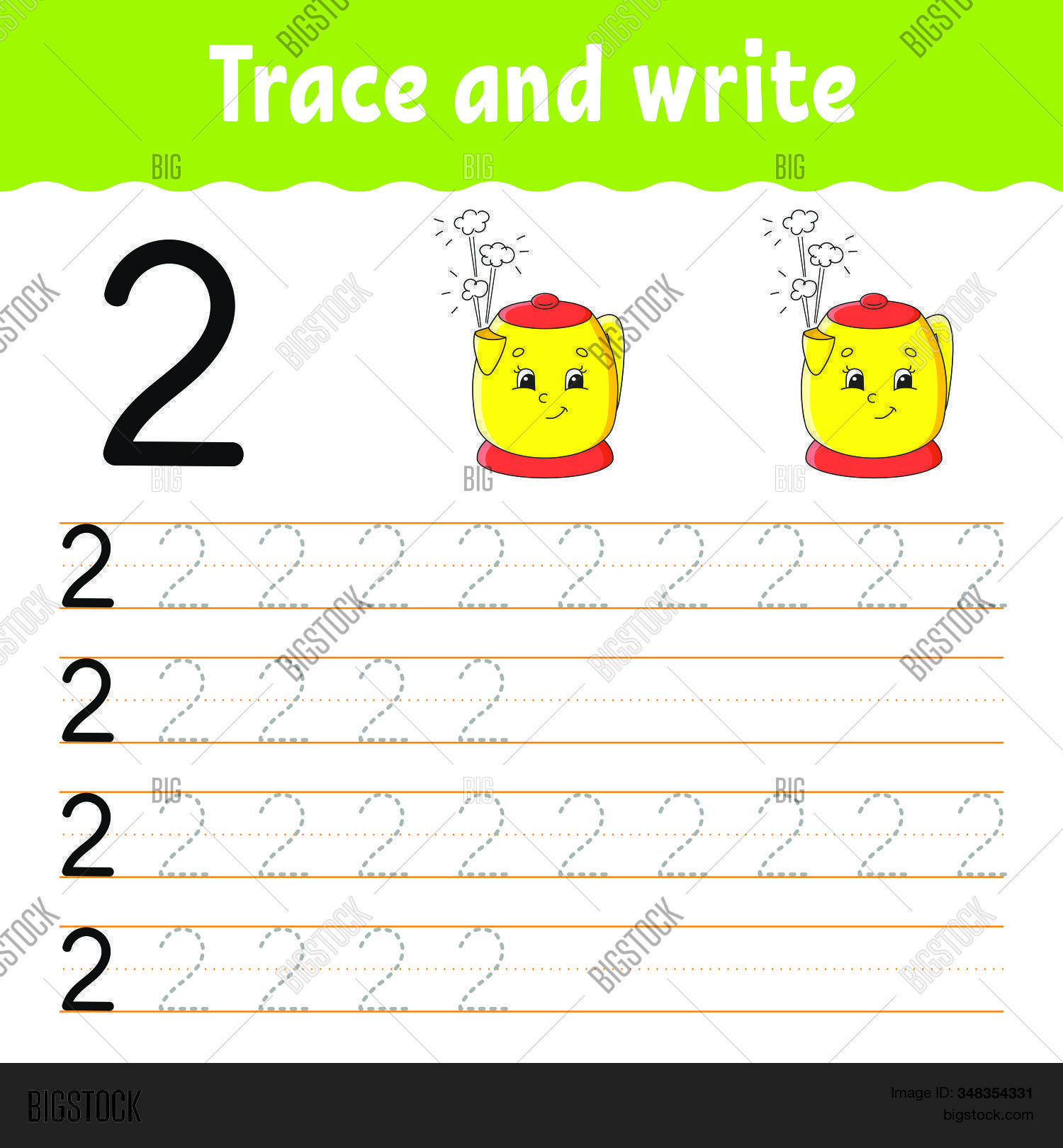 Number 2 Trace Write Vector Amp Photo Free Trial